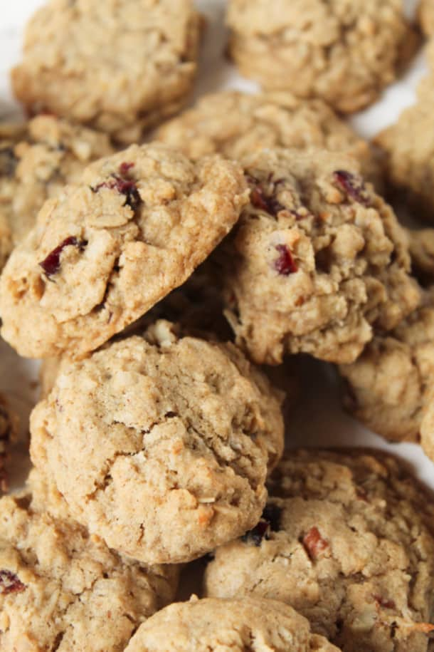 Cranberry Coconut Oatmeal Cookies (gluten-free)