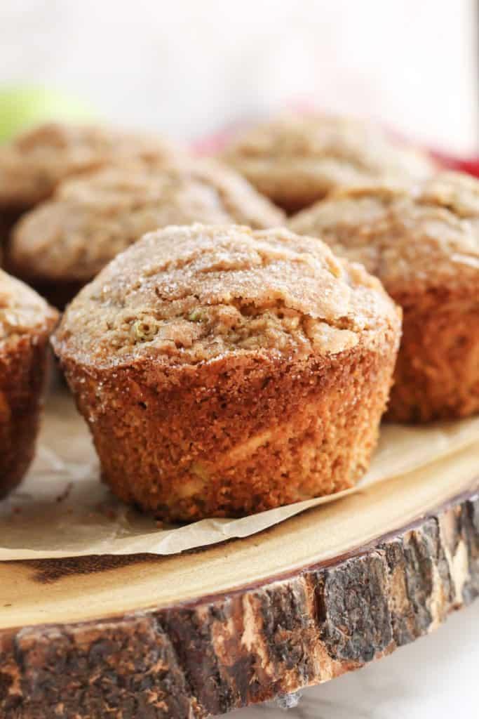 Apple Cinnamon Oat Muffins Gluten Free Dairy Free Option